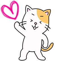 ヨガポーズをとるネコちゃん