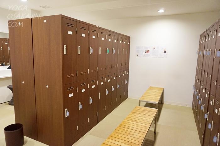 女性更衣室ロッカー zen place pilates大阪 心斎橋・ゼンプレイスピラティス