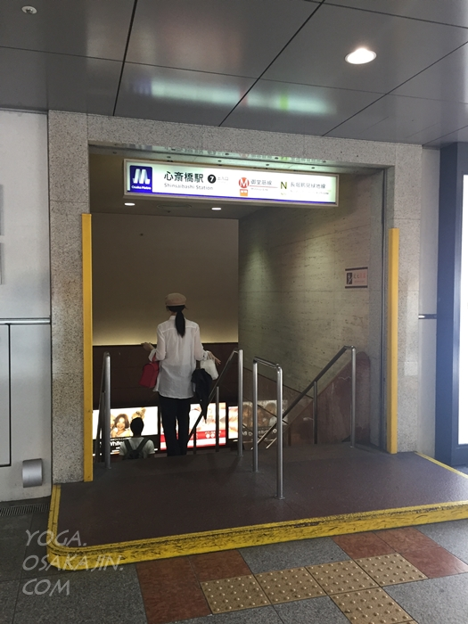 心斎橋駅7番出口をでたところ