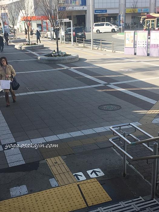藤井寺駅の北出口からでたところ